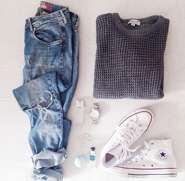 blue converse jumper