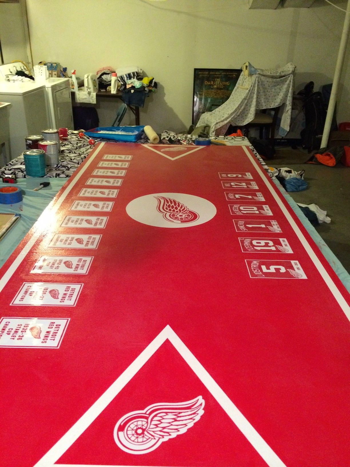 Awesome Red Wings Beer Pong Table More Here Httpimgurcoma - Custom vinyl decals for beer pong tables