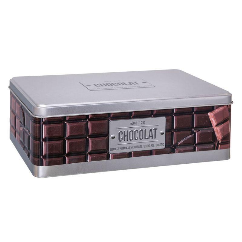 Boite A Chocolat Tablette Metal Dessin Relief Et Couvercle Argente 8 5x17cm Couvercle Boite Tablette