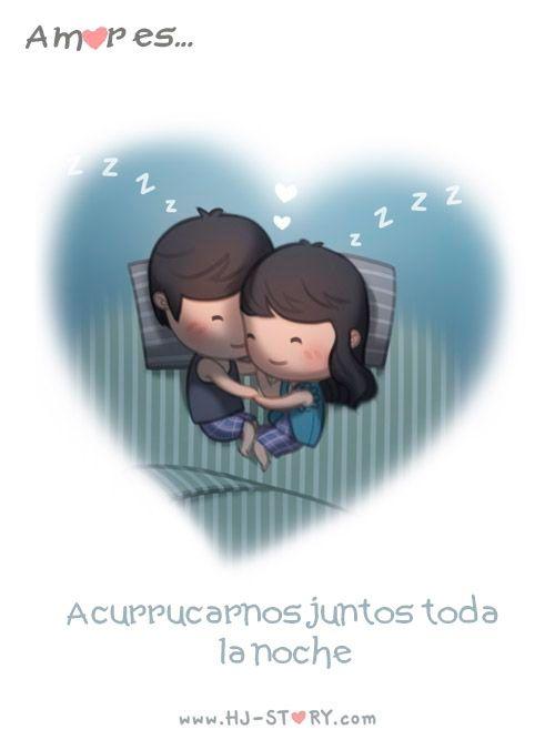 Amor es: acurrucárnos juntos toda la noche