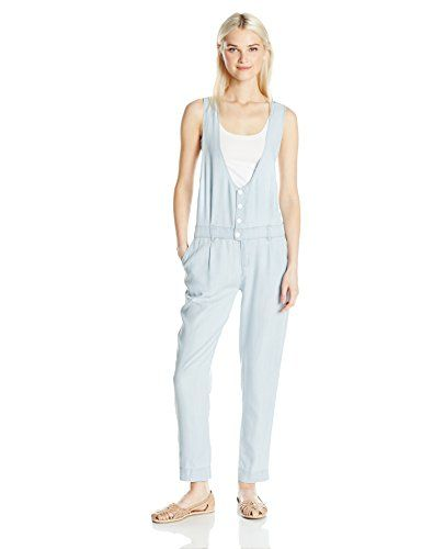 8dd474ae1eb7 OBEY denizen romper tailored jumpsuit with pleated front slim legs. Cut in  a silky draped lyocell twill with a chambray wash effect.