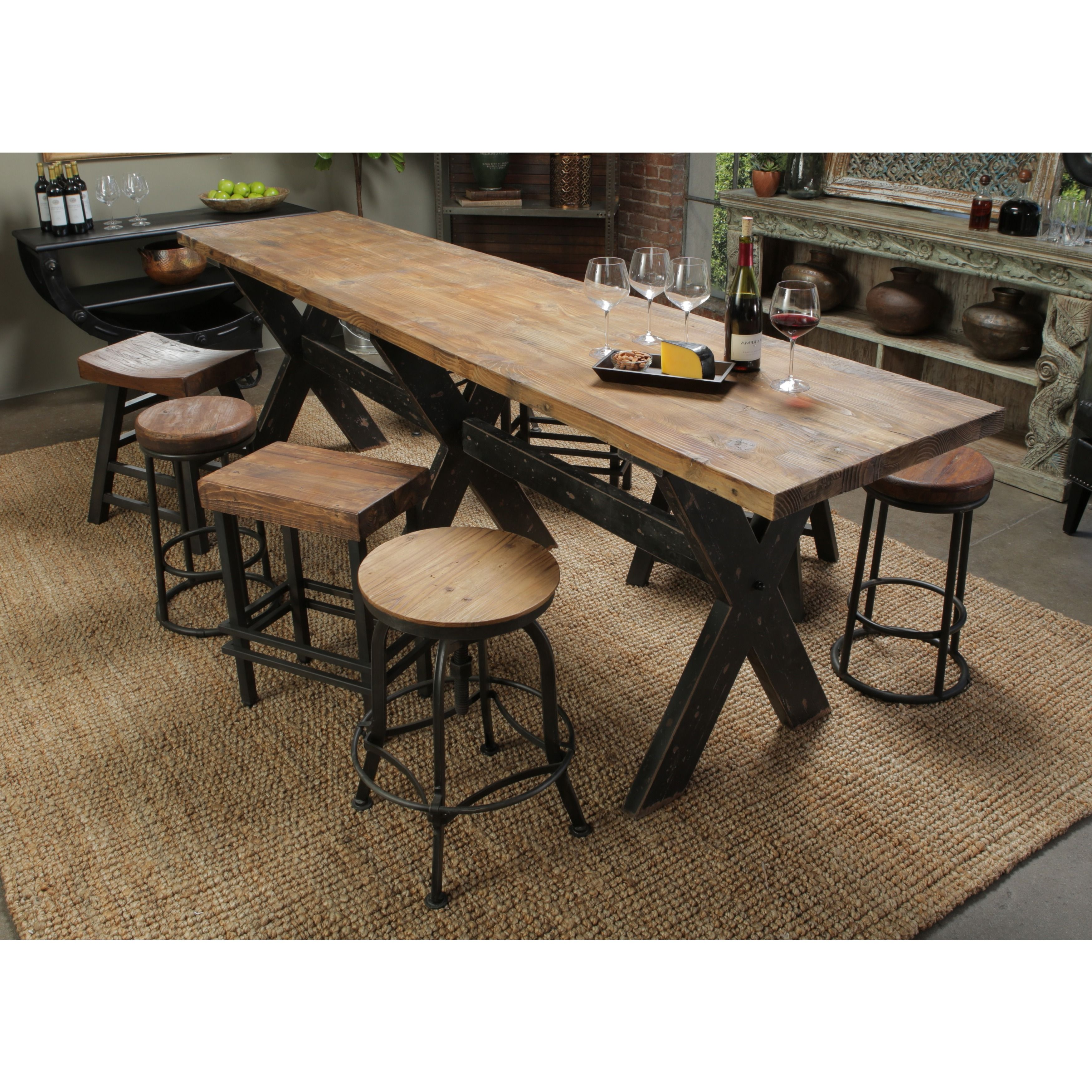 Isabella Reclaimed Wood Gathering Table by Kosas Home by Kosas ...