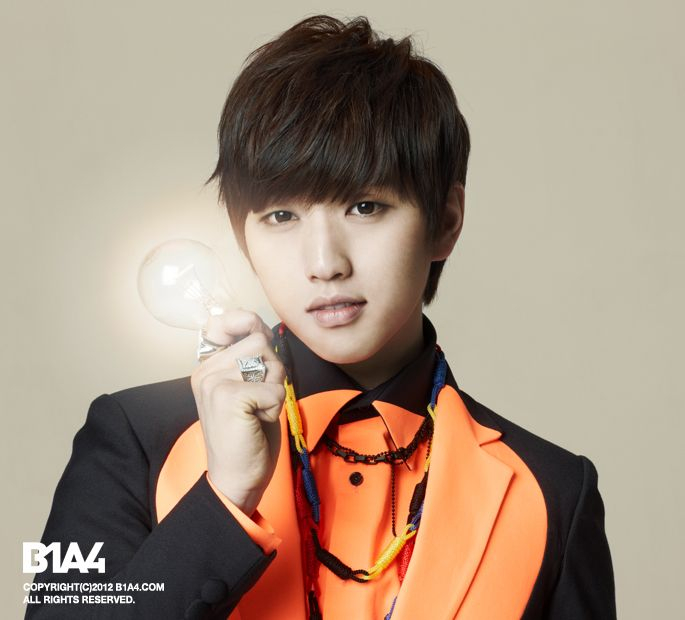 K Pop Idols In Suits Inactive Photo B1a4 Lee Jung Vocalist