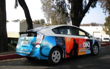 Toyota Prius Business Car Wrap Starfish Signs Graphics