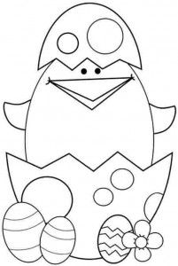 Free Easter Chick Coloring Pages For Kids Varityskuvia Pinterest - Easter-chick-coloring-pages