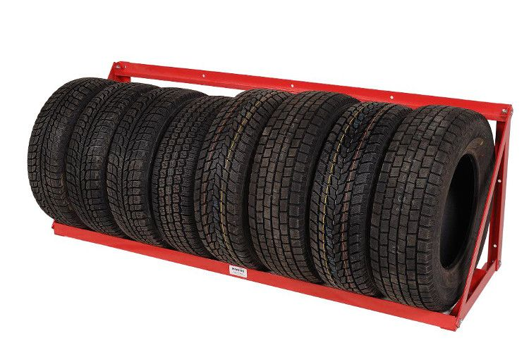 The Wall Mount Rack Is A Very Economical Tire Storage System