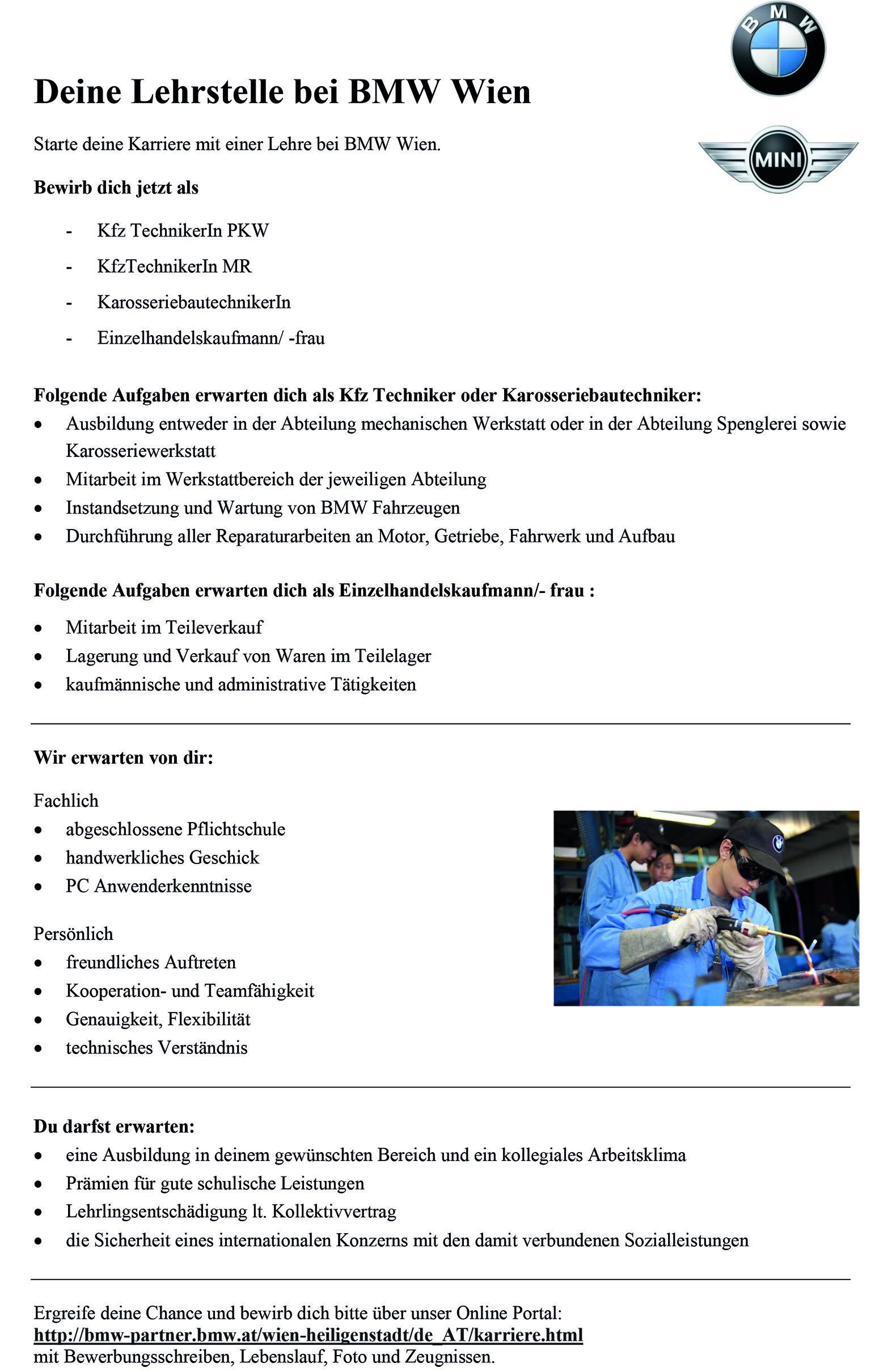 Www Http Bmw Partner Bmw At Wien Heiligenstadt De At Karriere Html Lehrstellen Lehrling Techniker