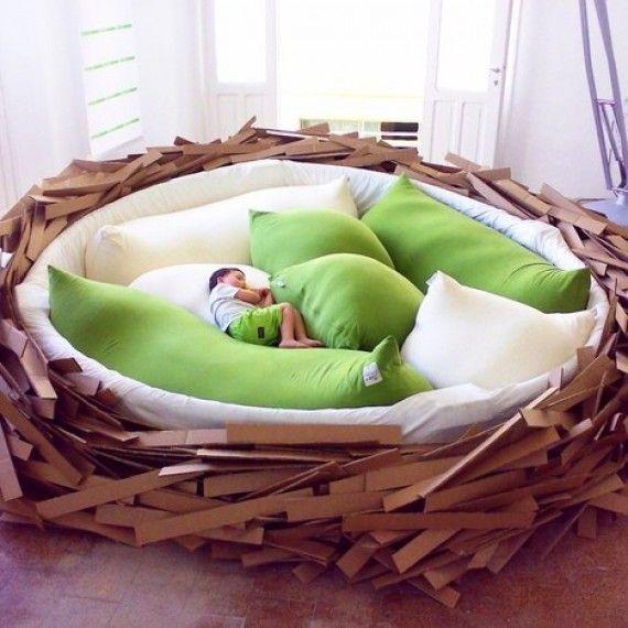 Canape Nid D Oiseau Geant Commentseruiner Com Lit Design Mobilier Lit Idees De Lit