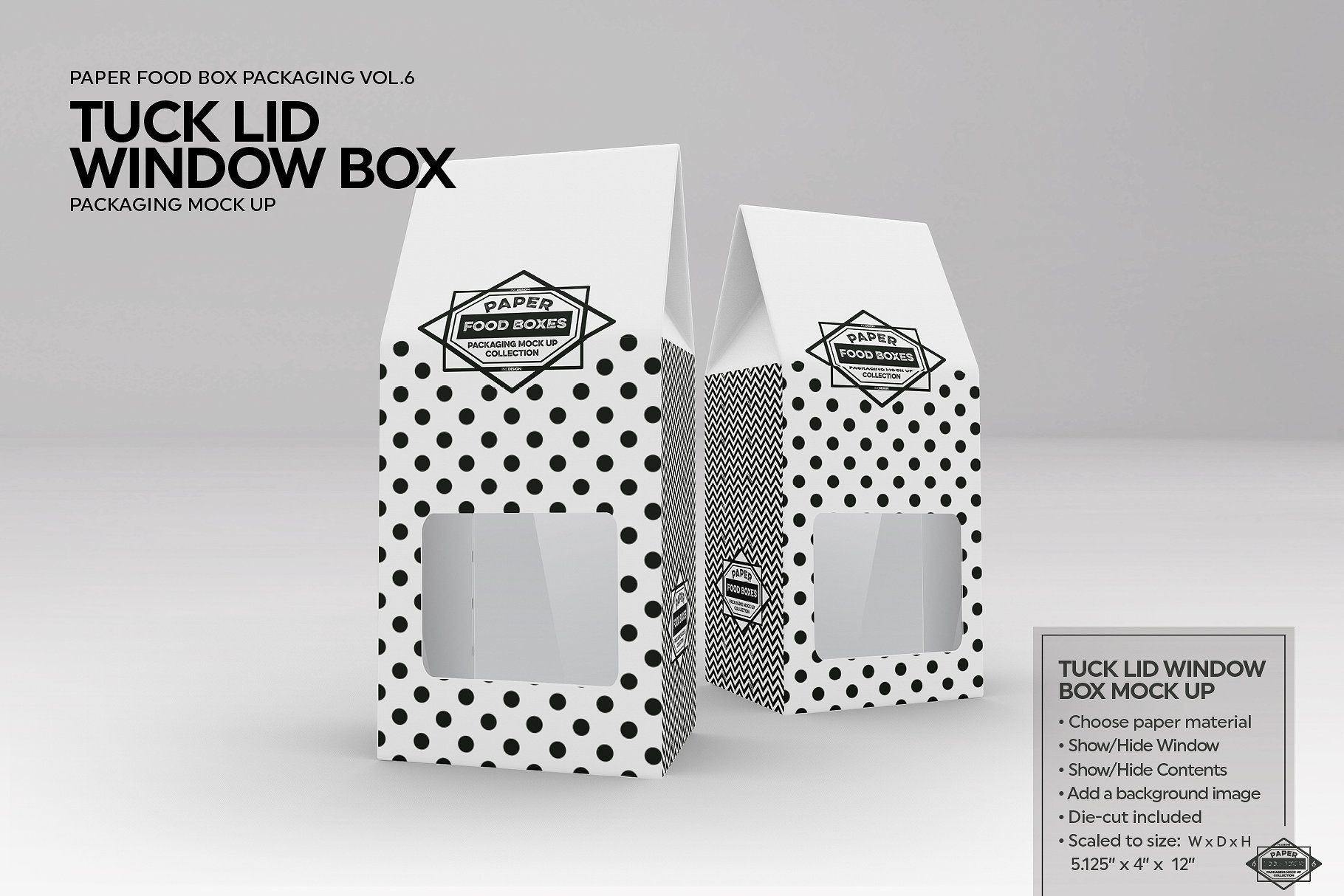 Download Tuck Lid Window Box Mockup Box Mockup Free Packaging Mockup Window Box