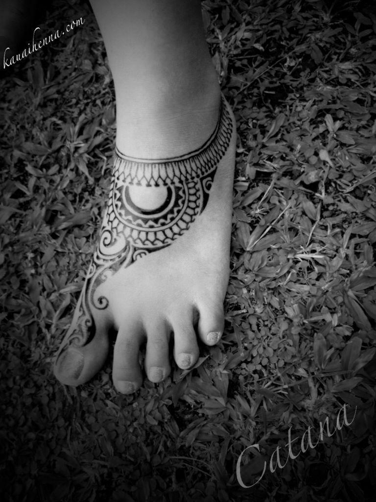 Polynesian Henna Tattoo: Polynesian Tattoo Inspired Jagua Body Art By Catana On