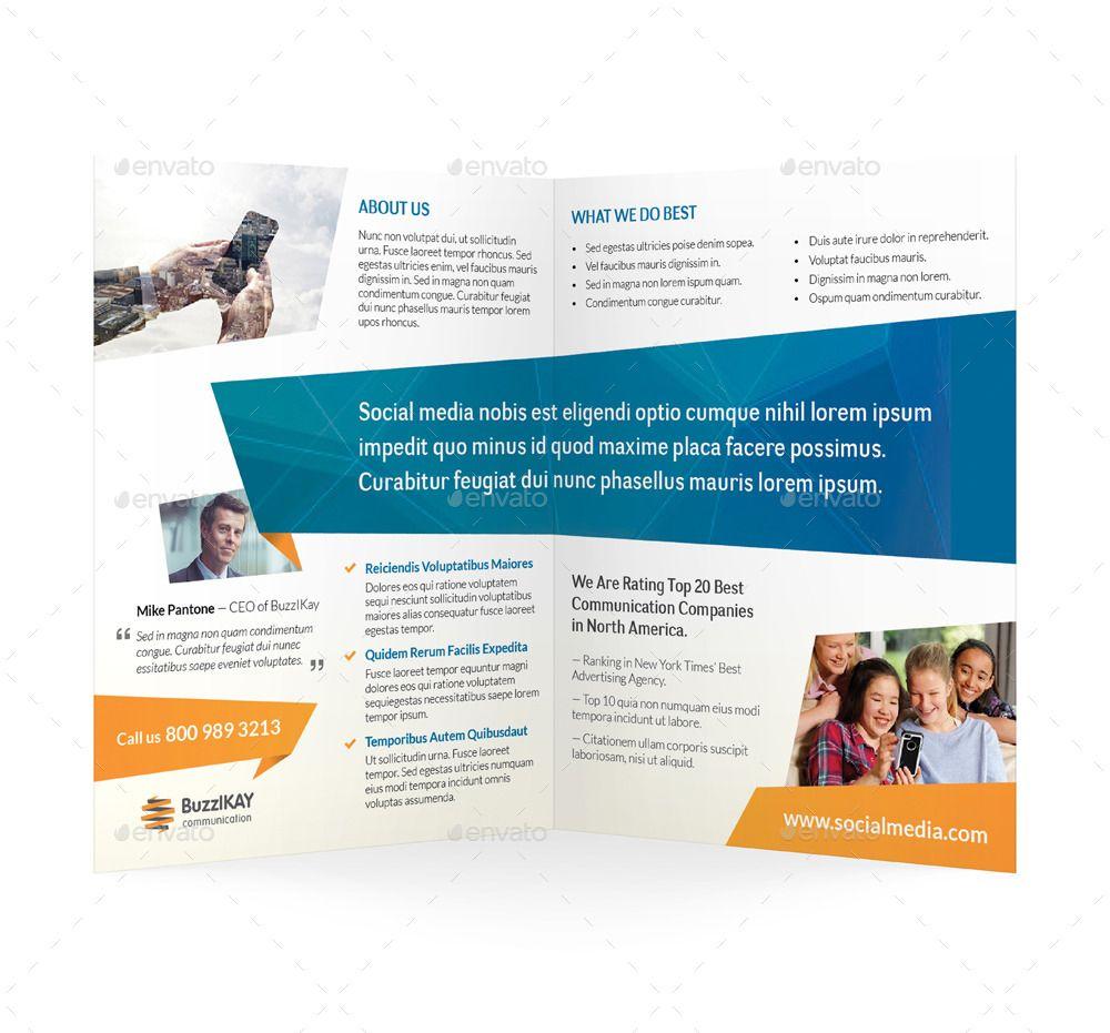 Media and Communication Bifold / Halffold Brochure