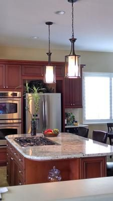 Shop Allen Roth 15 35 In W Oil Rubbed Bronze Pendant Light At Lowes Com Kitchen Lighting Fixtures Bronze Kitchen Lighting Kitchen Island Diy Plans