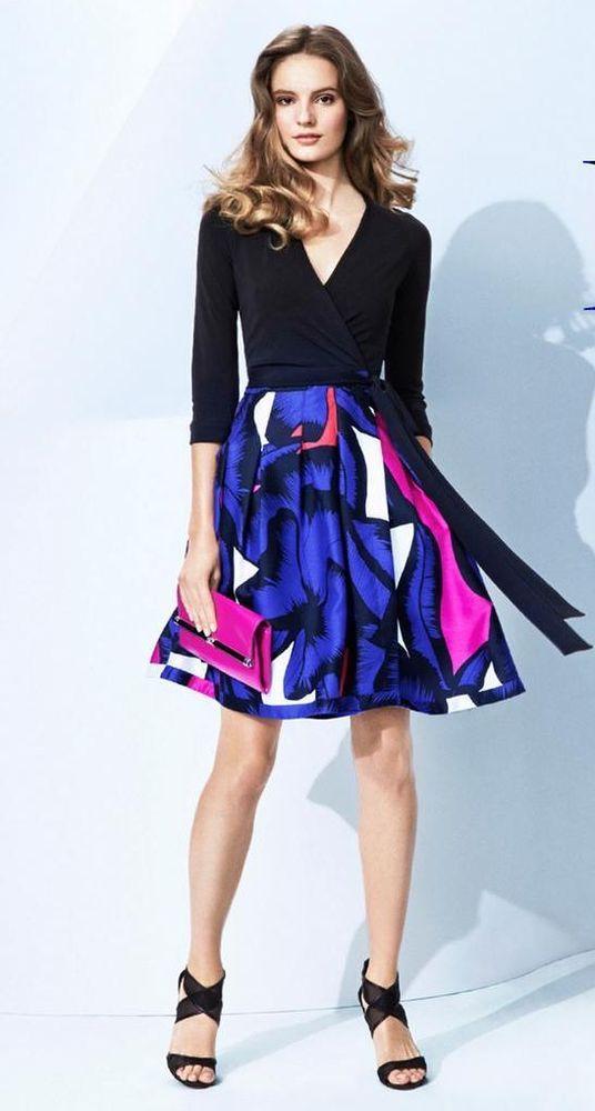 NWT $548 Diane von Furstenberg amelia julian T72 jeanne JEWEL wrap Dress 12 #DVF #WrapDress