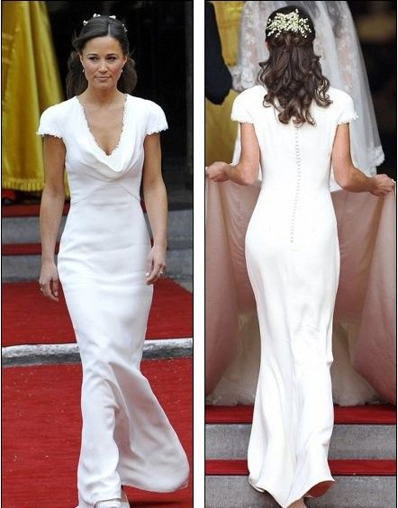 8c0ebbb9c1bb Pippa Middleton Inspiring New Trend Of Plastic Surgery By Sarah Burton Alexander  McQueen dress she wore the day of the royal wedding of her sister