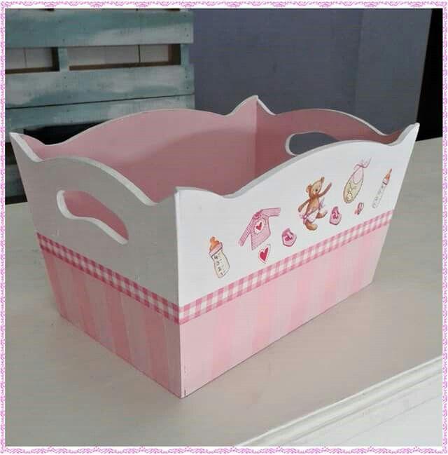 Perfumero bebe sehpa baby nursery decor baby shawer y - Cajas decoradas para bebes ...
