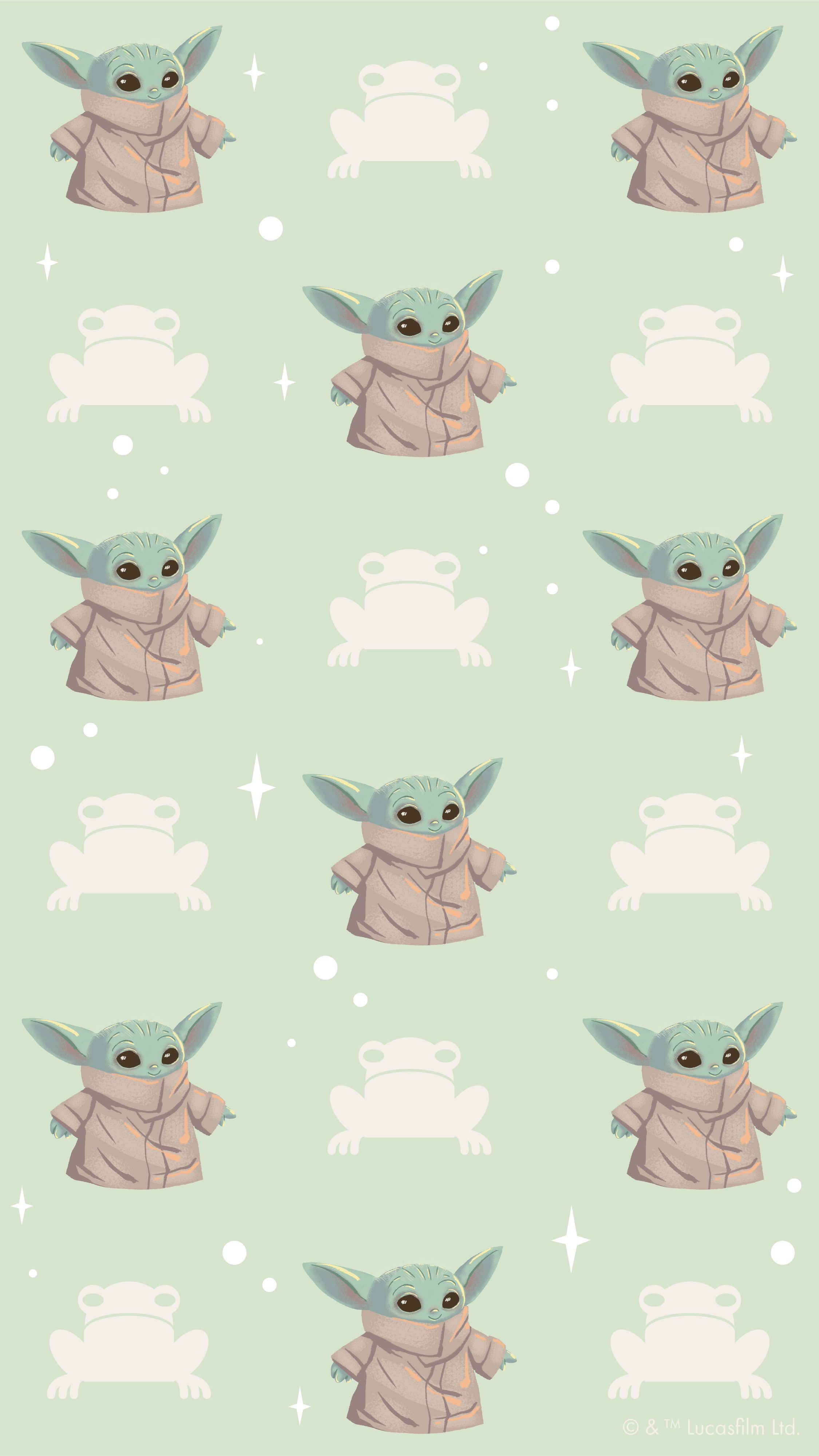 The Child X Colourpop Phone Wallpaper Yoda Wallpaper Cute Cartoon Wallpapers Star Wars Artwork