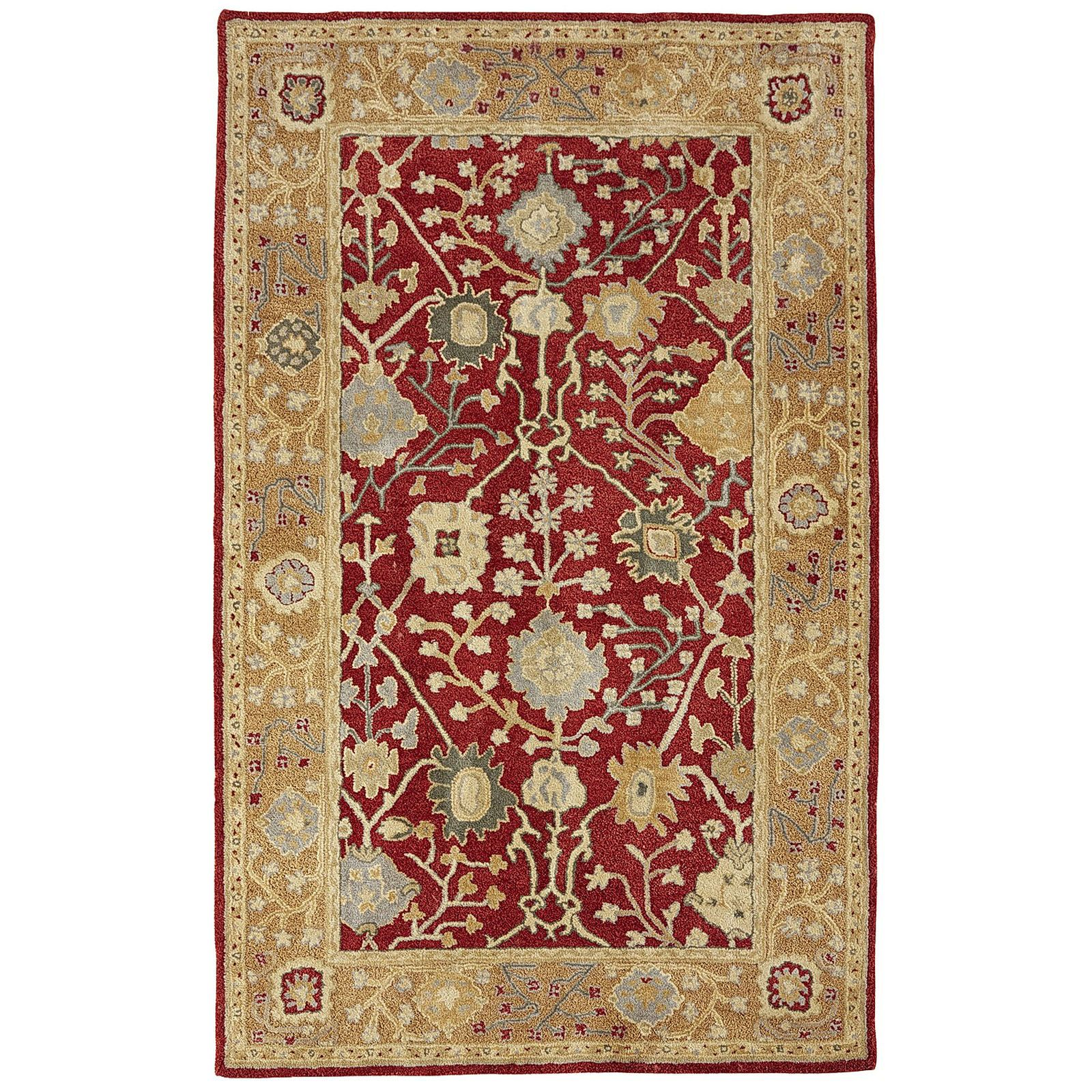 Sanborn Traditional Spice 8x10 Wool Rug Rugs, Area rugs