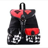 Wish | Suicide Squad Harley Quinn Knapsack Backpack School Bag Cosplay Accessories