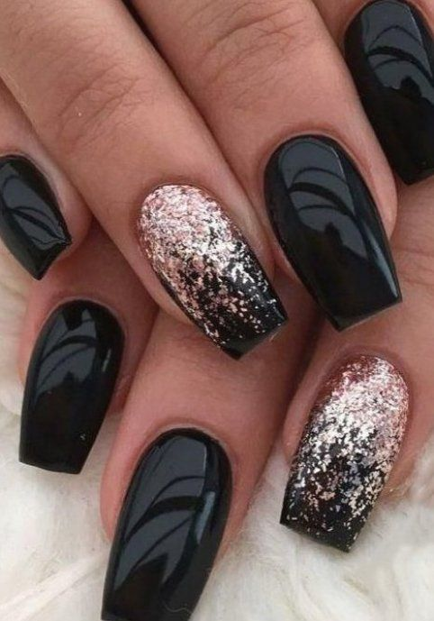 46 Trendy Black And Purple Coffin Nails Ideas For Purple Acrylic Nails Drip Nails Black And Purple Nails