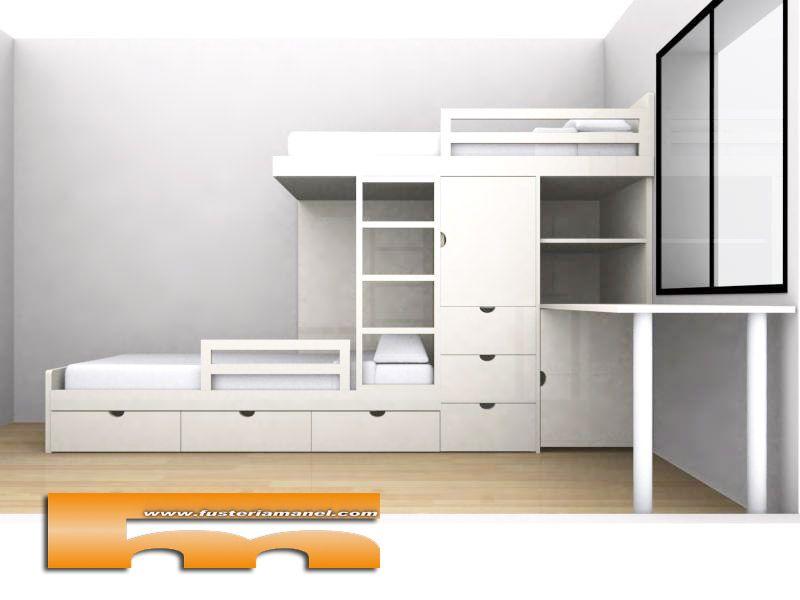 Habitaciones ikea stuva litera buscar con google - Medidas de camas ikea ...
