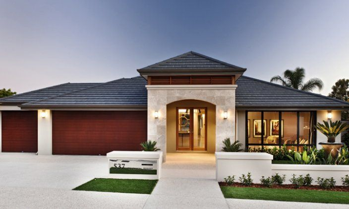 Front Elevation Australia : House frontages single story stone pillars australia