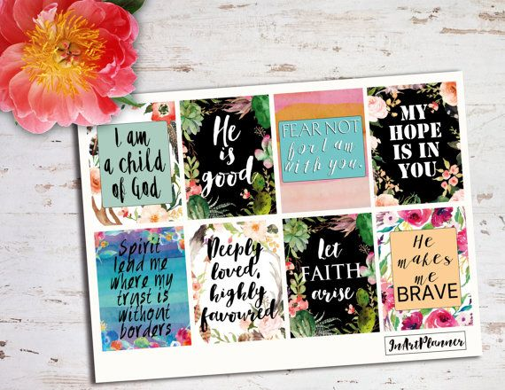 Christian stickers quote stickers bible stickers by InArtPlanner
