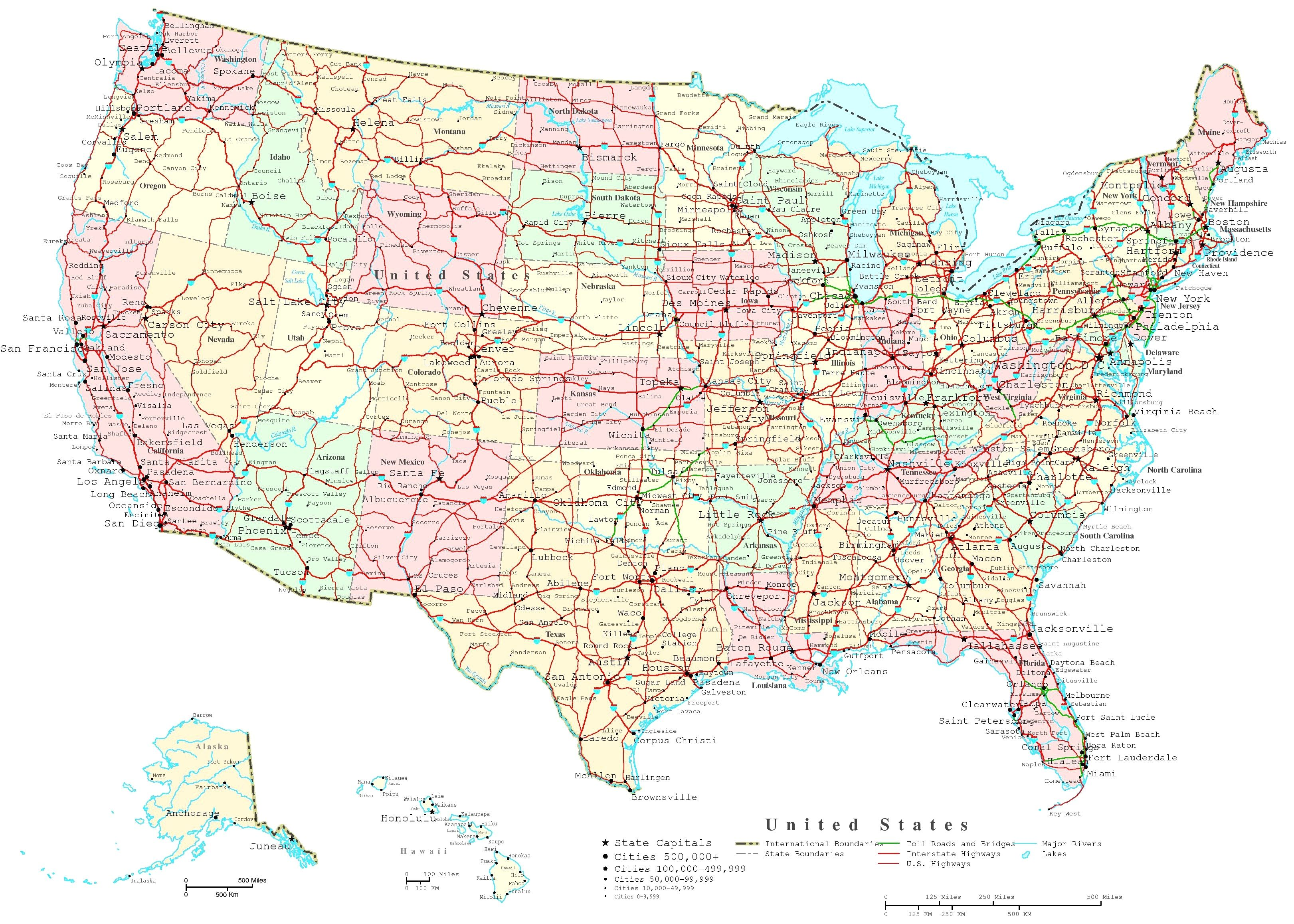 Usa Map With States Labeled united states labeled map maps usa a ...
