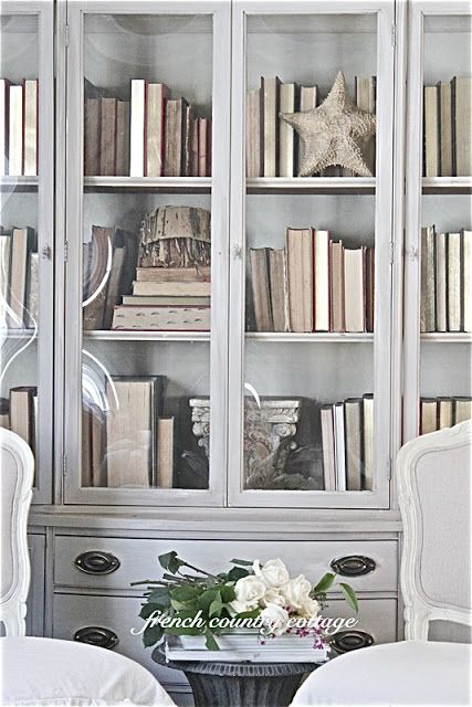 French Country Cottage Painted Library Cupboard Country House Interior Country House Decor French Country House