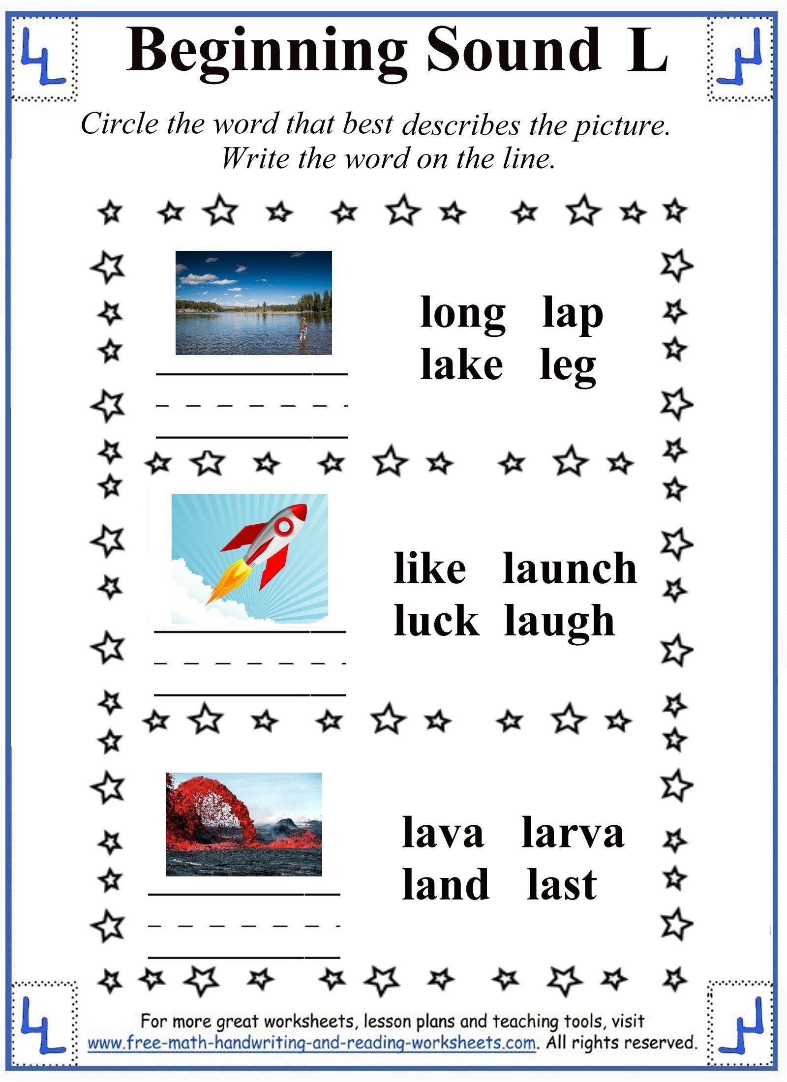 L Letter Worksheet 3 | Consonant Letters | Pinterest