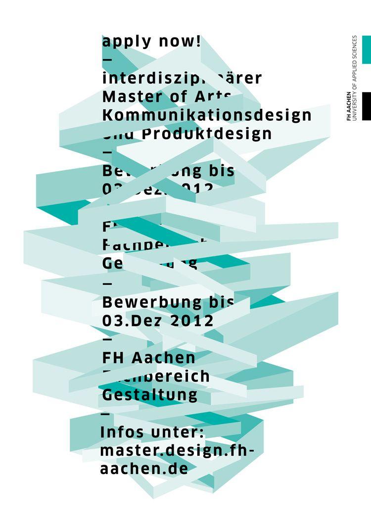 Apply Now Master Of Arts Fh Aachen Kommunikationsdesign Produktdesign Masterstudium