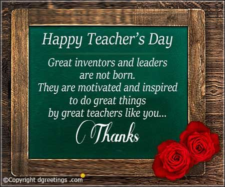Wish Them A Happy Teacher S Day With Our Beautiful Collection Of Teachers Day Cards Happy Teachers Day Teachers Day Card Happy Teachers Day Card