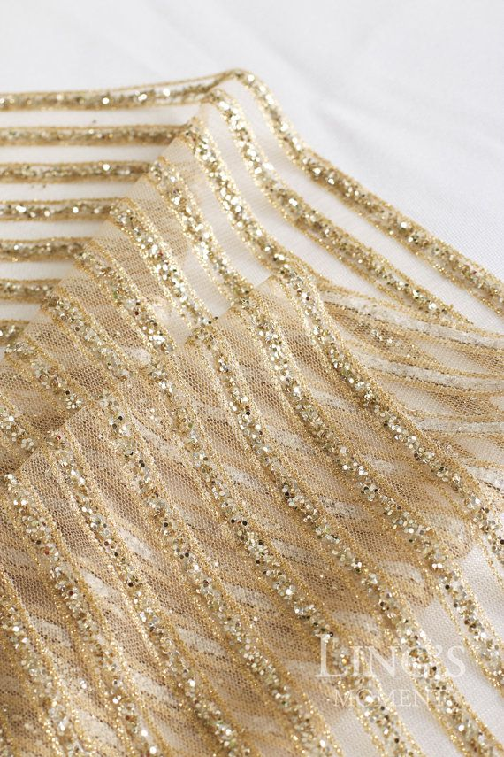 striped sparkly glitter champagne gold table runner glitter table runner for wedding bridal shower party