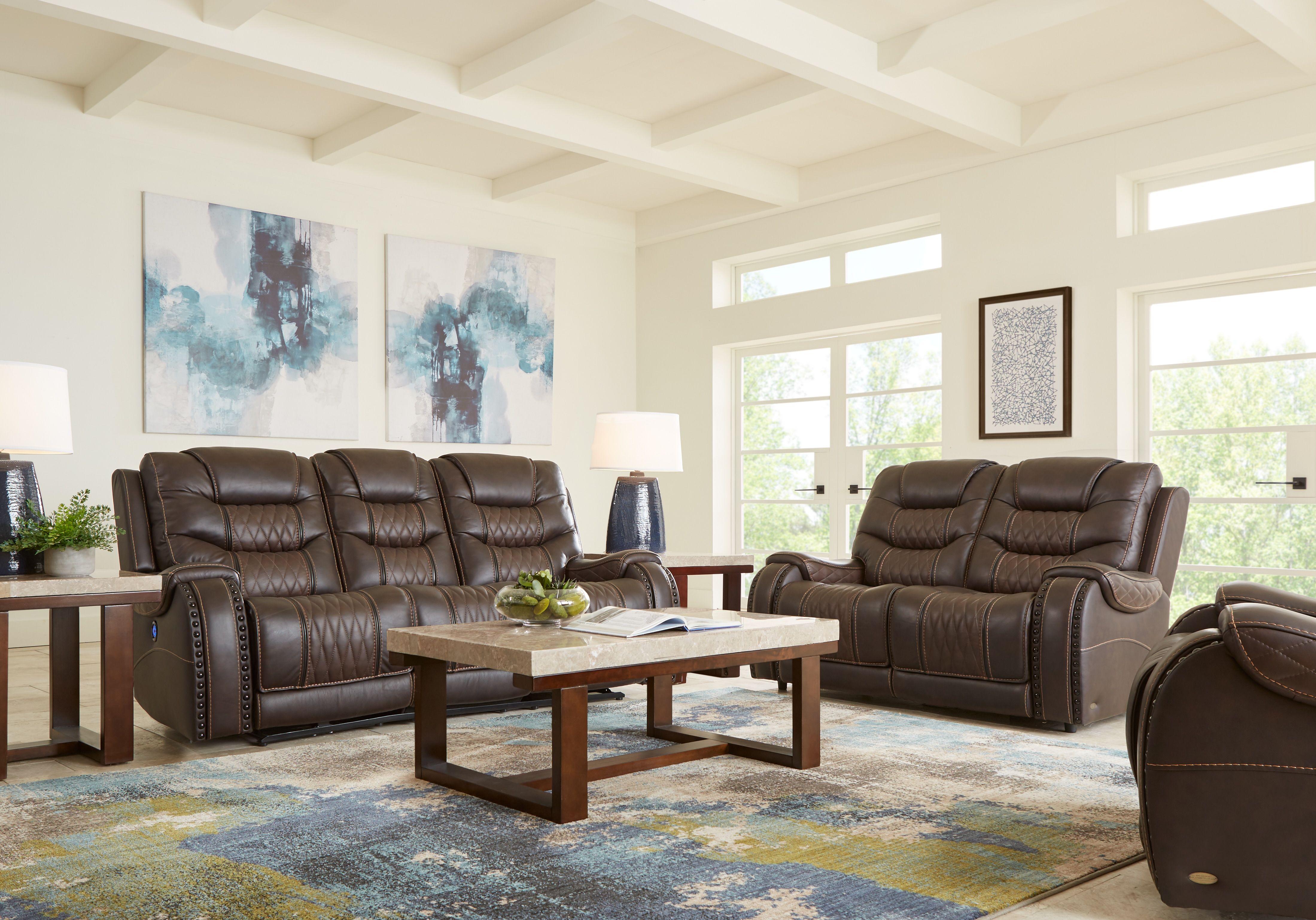 Eric Church Highway To Home Headliner Brown Leather 3 Pc Living Room Living Room Leather Brown Living Room Living Room Sets #rooms #to #go #leather #living #room #set
