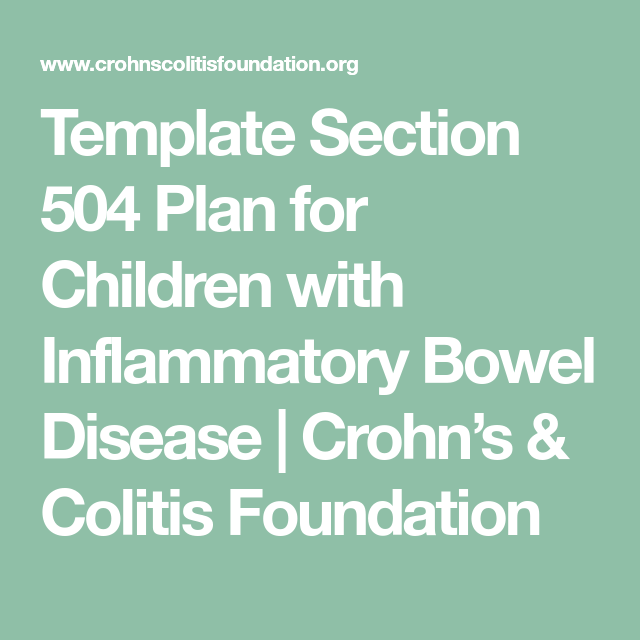 Template Section 504 Plan for Children with Inflammatory Bowel ...