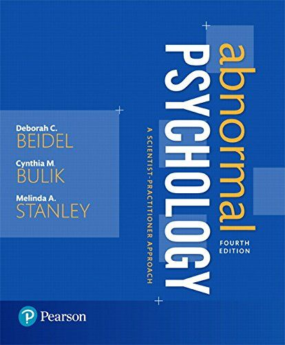 Abnormal psychology a scientist practitioner approach 4th edition books fandeluxe Images