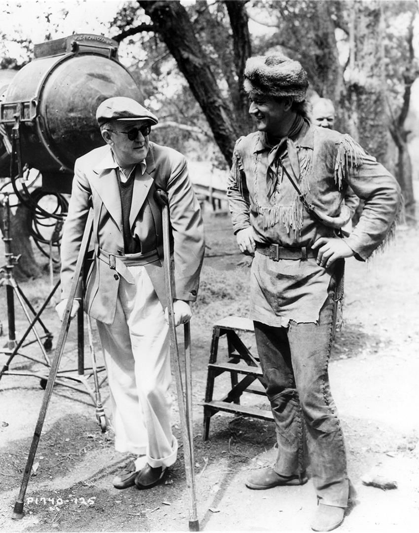 """""""The Fighting Kentuckian"""" (1949) John Wayne is visited on the set by director John Ford"""