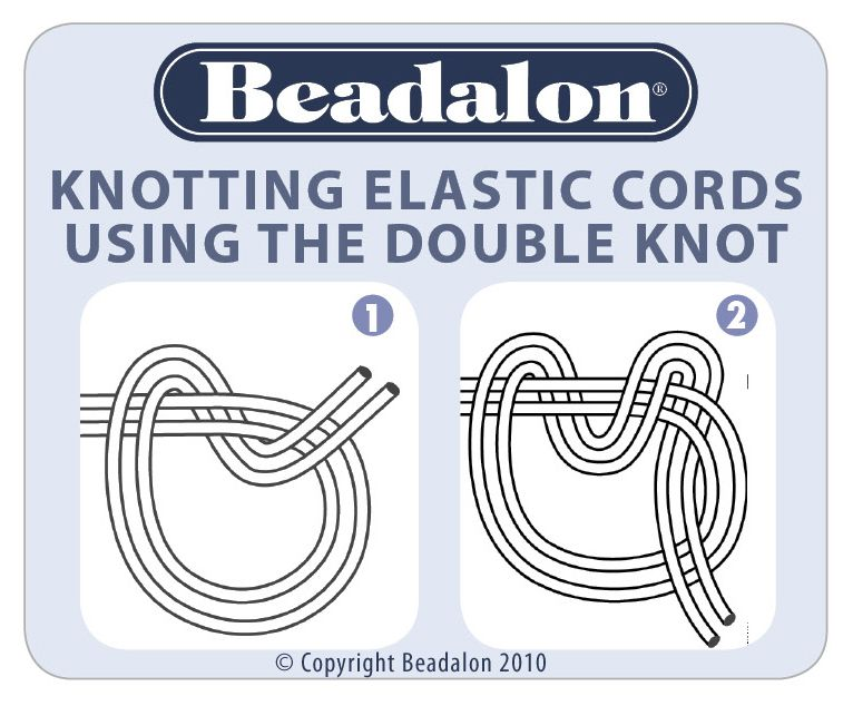 How To Tie A Knot In Elasticity Stretch Cord I Haven T Used This Cord In Years But When I Did I Tied Jewelry Knots Jewelry Making Tutorials Jewelry Tutorials