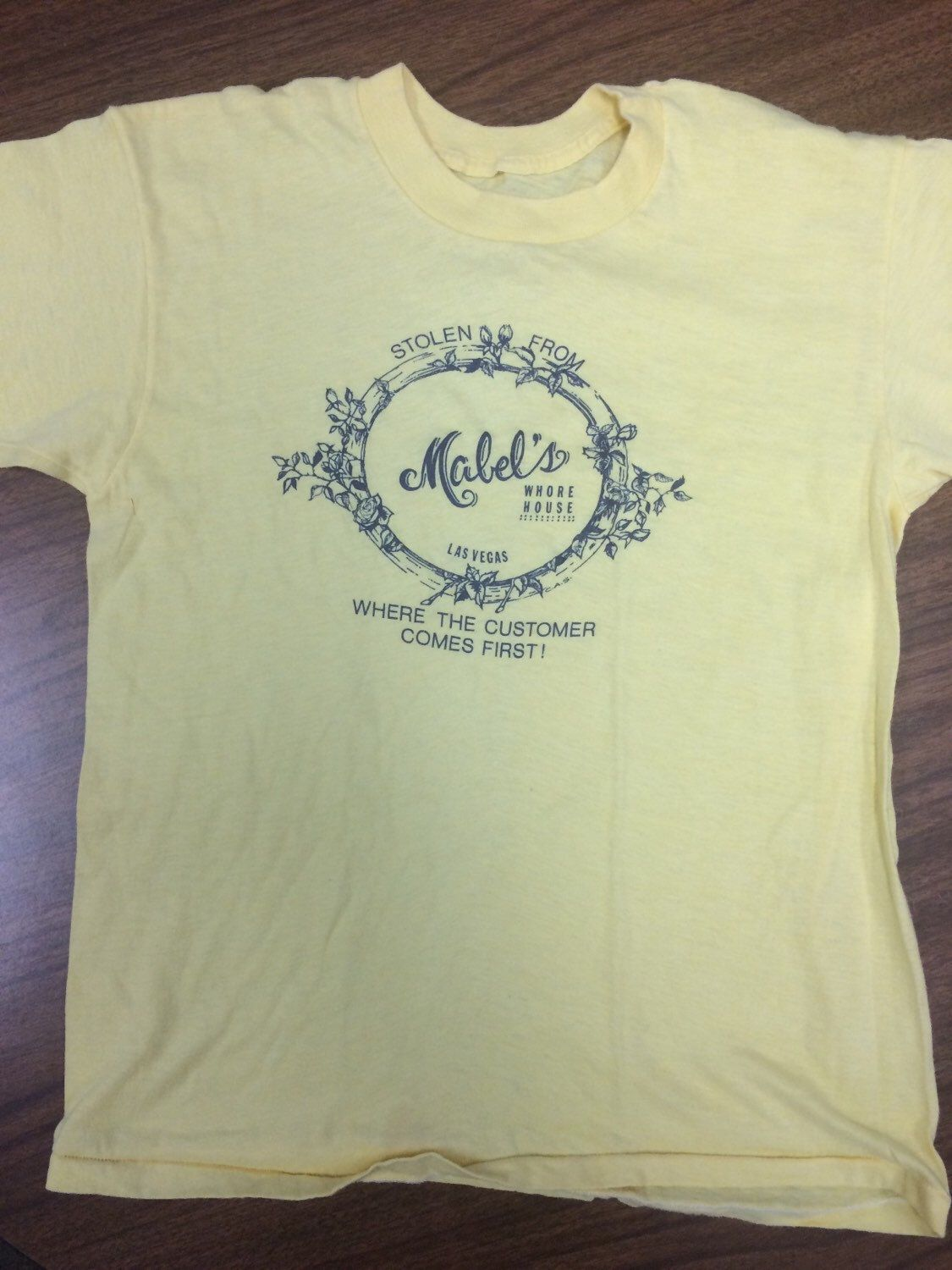 d43e7eeffa 80s Vintage Stolen From Mabel s Whore House Las Vegas T-Shirt by  Twenty30tees on Etsy