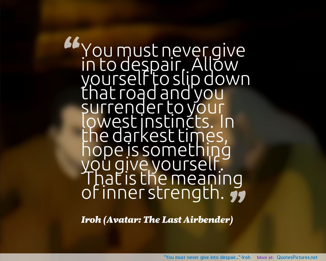 Iroh Avatar Quotes