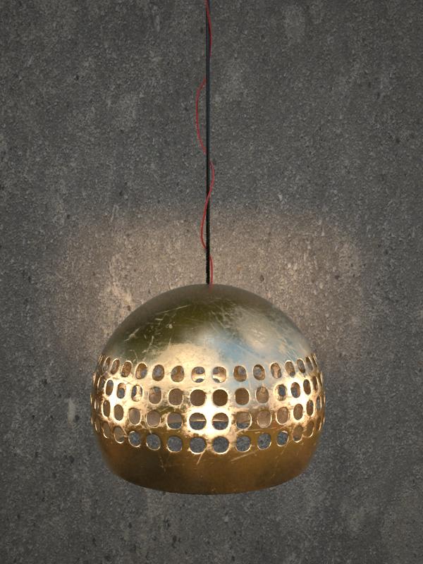 Render con 3ds max. Metal sucio y rayado. DIseño mío.  #diseñoindustrial #lamp #diseño #design