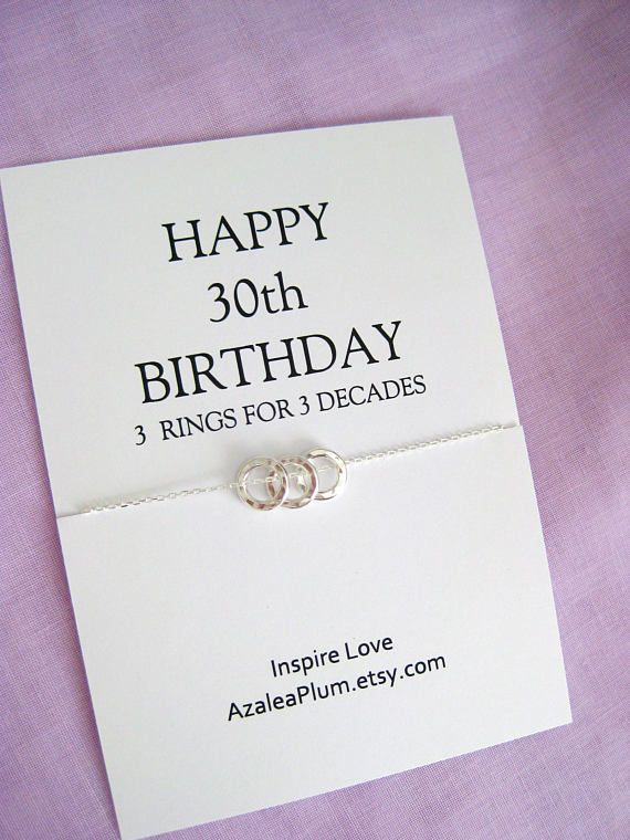 30th Birthday For Her Sterling Silver Necklace