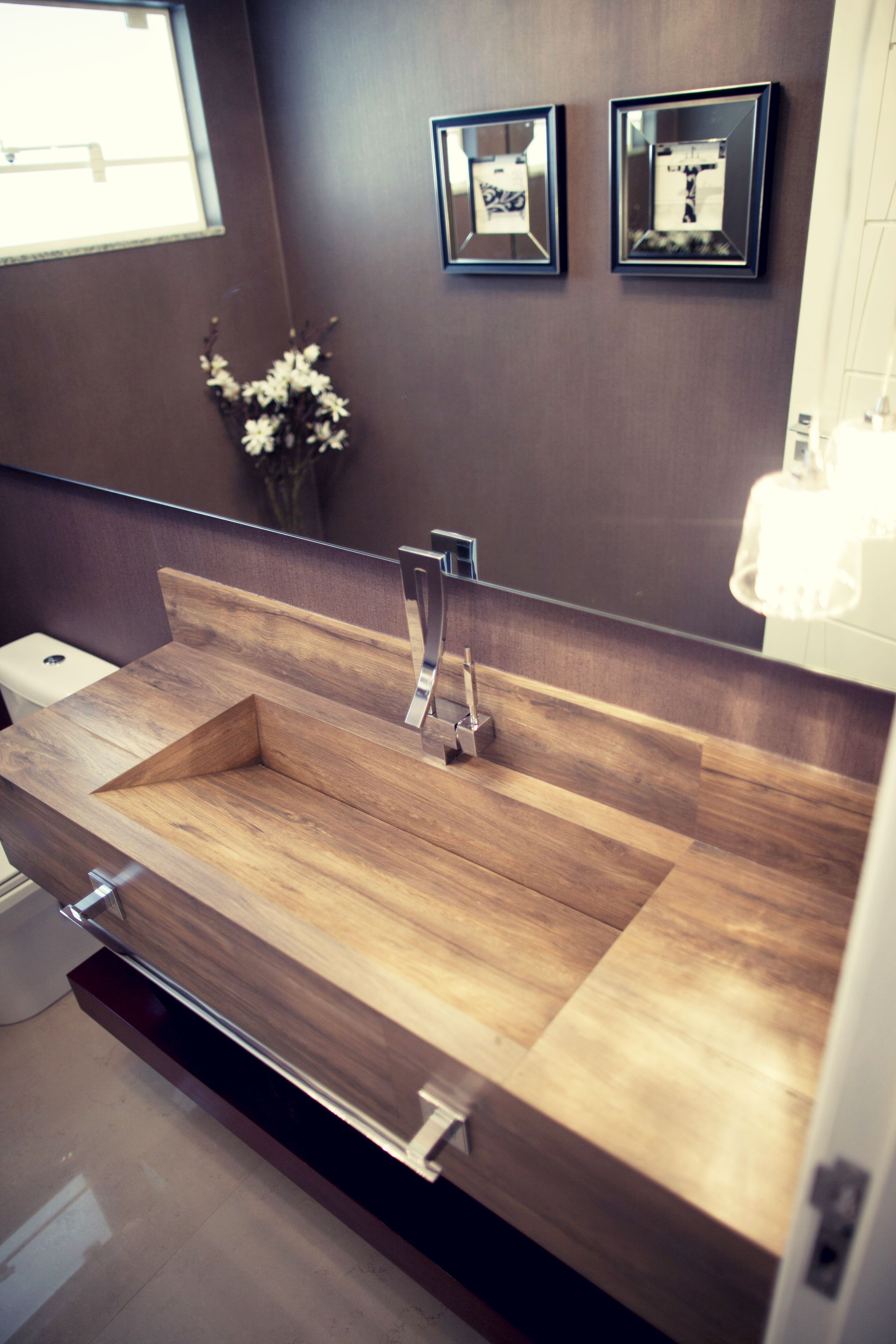 Cermica Lavabo Porcelanato Banheiro Decora