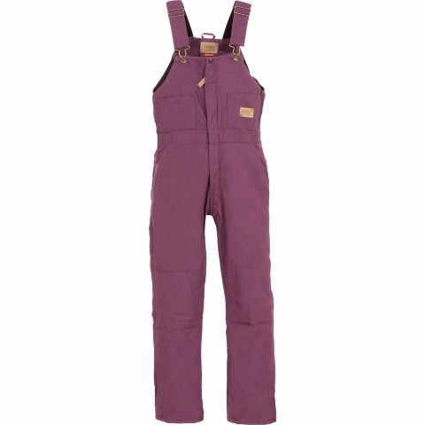 c e schmidt ladies sanded washed duck quilt lined on womens insulated bib overalls id=93553
