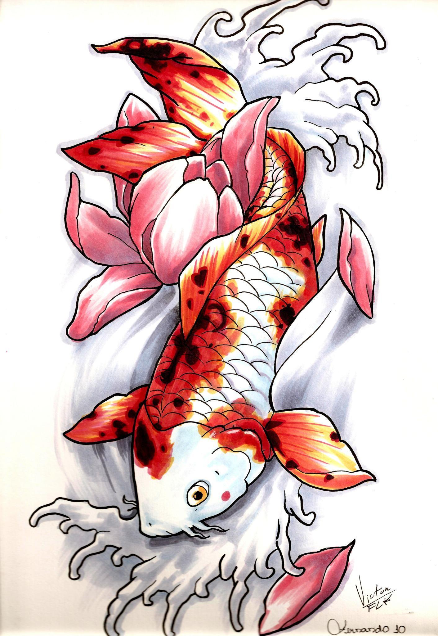 Carpa by fernandotravis d32mf1o desenho de carpas for Como criar peces koi