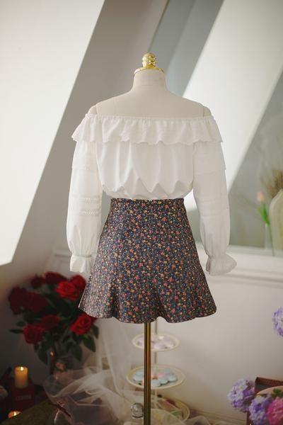Japanese fashion lace 7 points shirt - AddOneClothing - 6