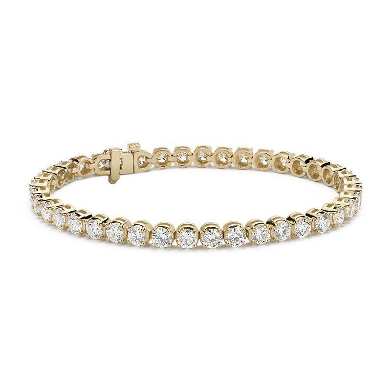 Diamond Tennis Bracelet 18k Yellow Gold 10 Ct Tw Women S Gold Diamond Diamondtennisbracel With Images Bracelets Gold Diamond Tennis Bracelet Tennis Bracelet Diamond