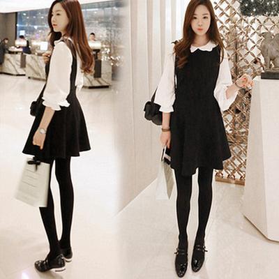 a86733221a9 Korean sweet strap dress two-piece from Sanrense