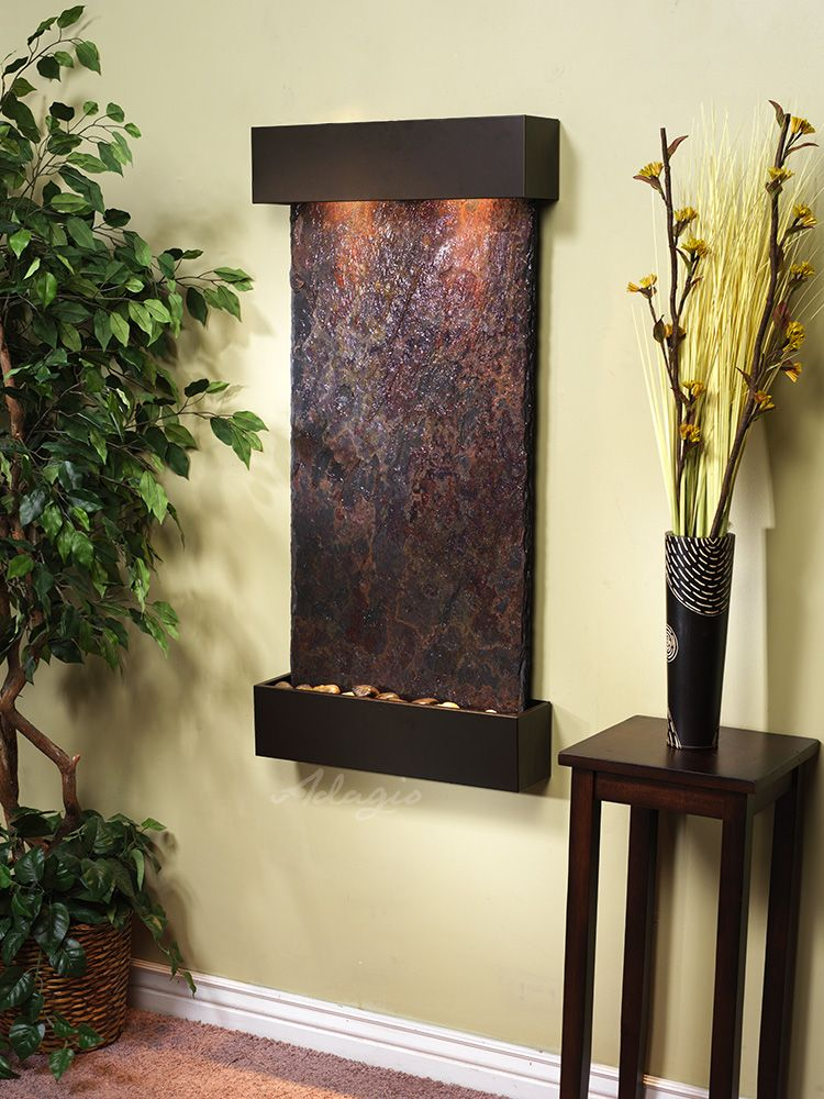 Save When You Order An Adagio Water Feature From Earth Inspired Products We Offer Free Shipping And No Sales Wall Fountain Water Feature Wall Antique Bronze