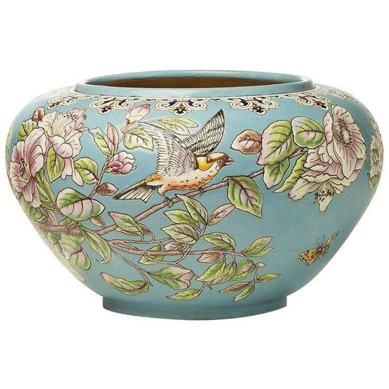 Eugene Collinot Japonisme Cache Pot Circa 1870 1stdibs Com Porcelain Art Ceramics Antiques