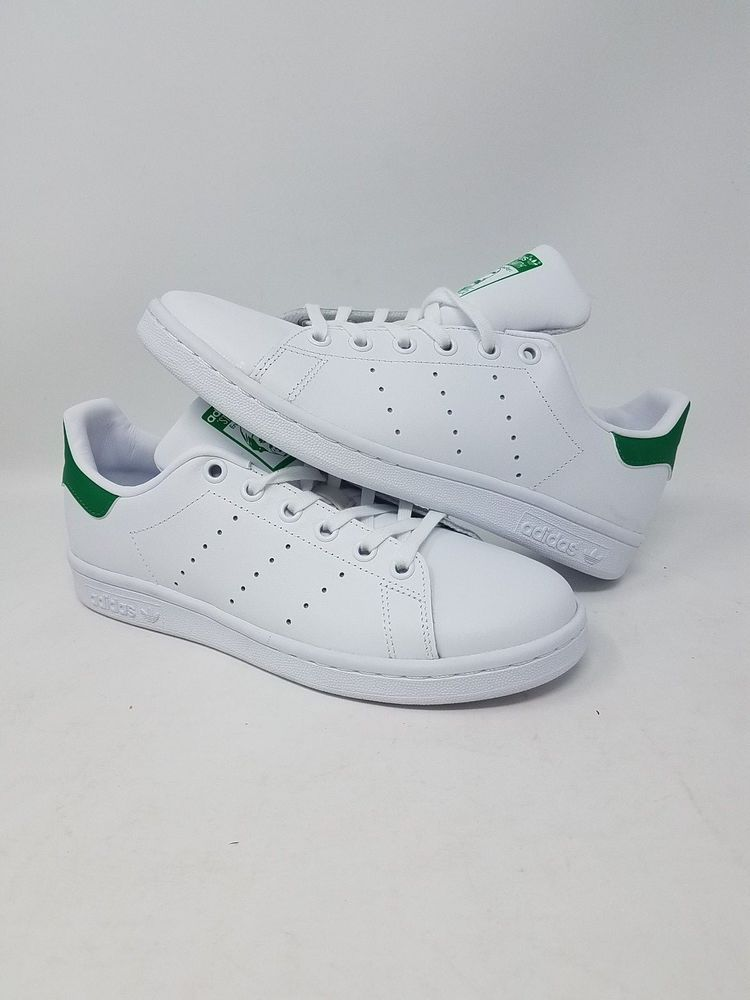 Green New Adidas Youth Originals Stan Smith JR Shoes M20605 White //// White